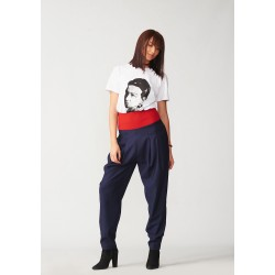 Banana trousers with red belt