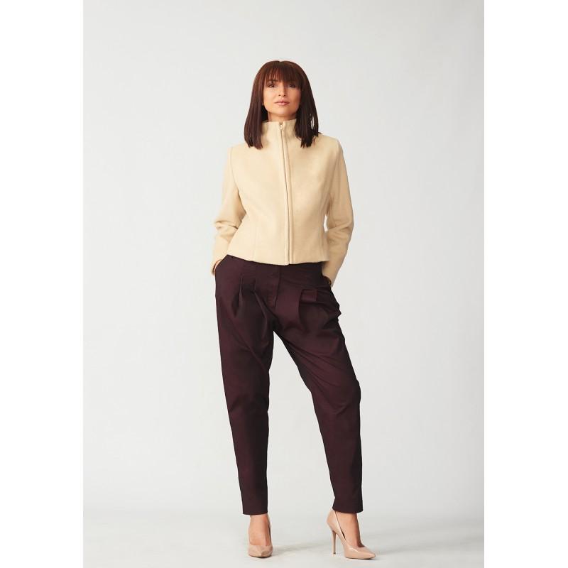 Short cashmere coat