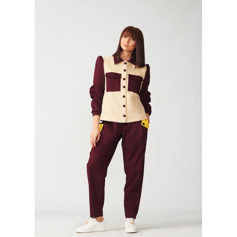 Cashmere jacket shirt type