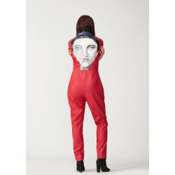 Hand-painted leather jumpsuit