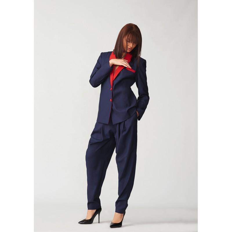 Hand-painted tuxedo style jacket with pocket