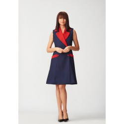 Multifunctional vest with red lapel