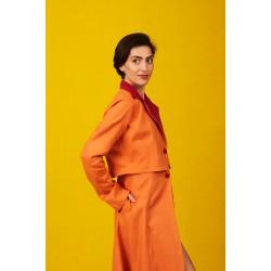 Linen overcoat dress