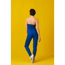 Blue cotton jumpsuit