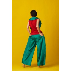 Green cotton trousers