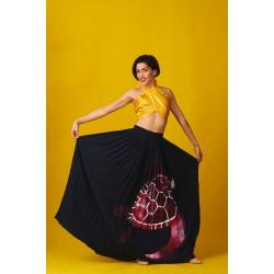 Yellow silk bustier