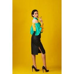 Colorful silk shirt