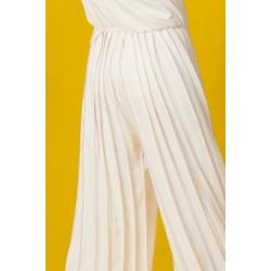 Hand-painted silk jumpsuit