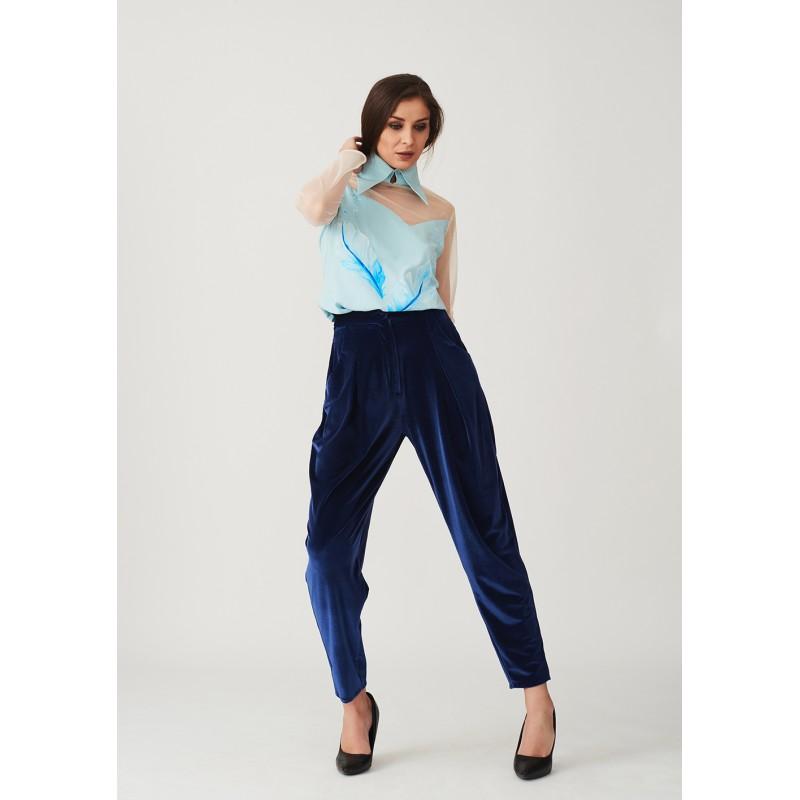 Velvet banana trousers