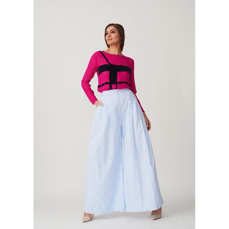 Fuchsia silk blouse