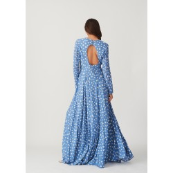 A long fairy dress with a bare back