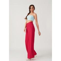 Elegant wide cut silk trousers