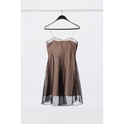 Silk dress with cloak