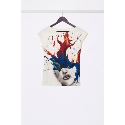Hand painted T-Shirt  in pop-art style